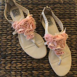 Pour La Victorie Pink Flowers Roses Sandals 8.5M
